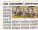 Saverio Bari triona anche la Champions League